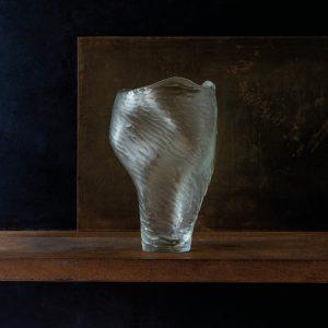 Vase, Clear Cold Carved