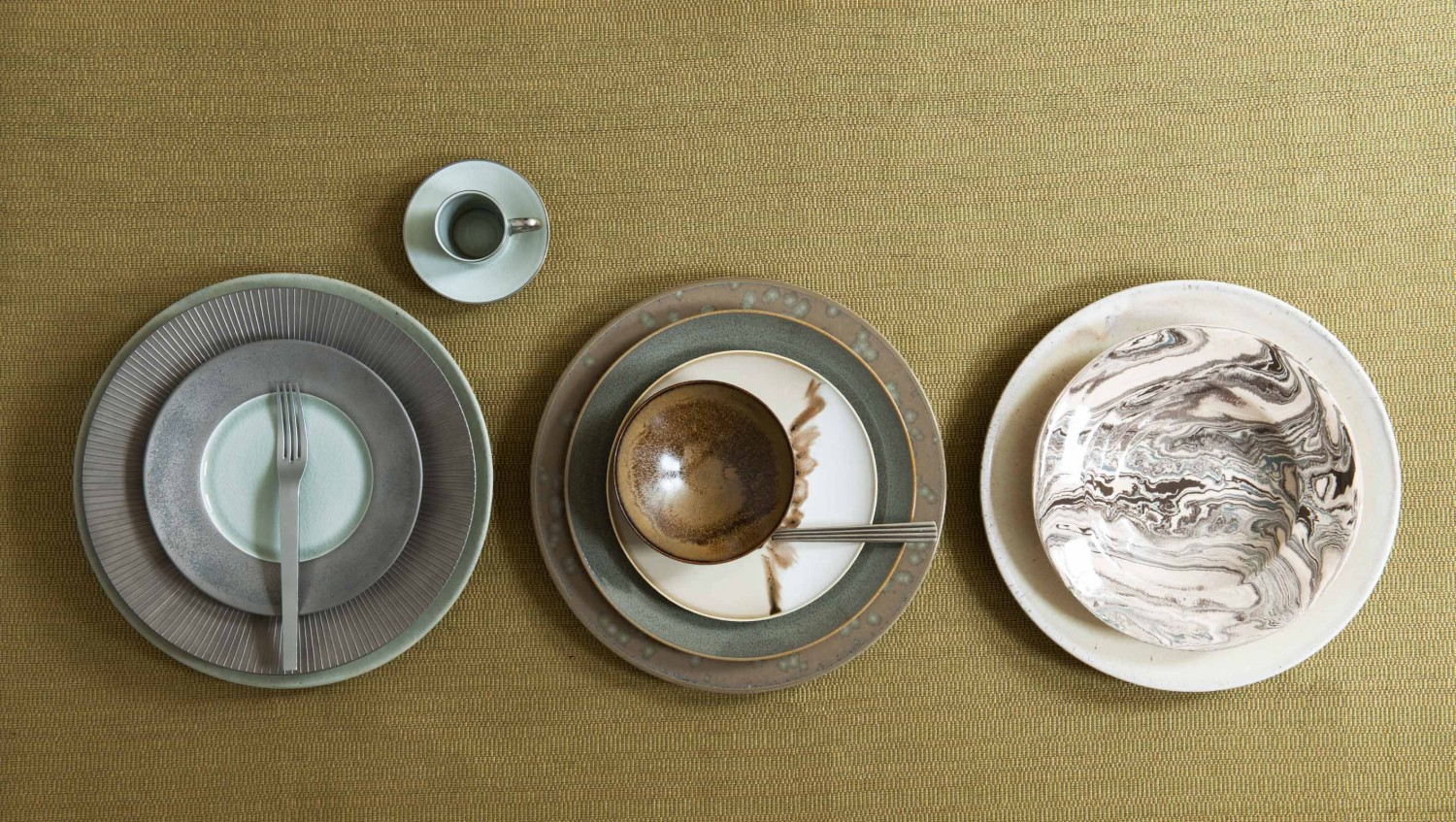 Willer Limoges porcelain, stoneware and faience; stainless steel and sterling silver cutlery.